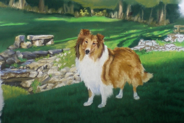 Lassie's portrait, second proof