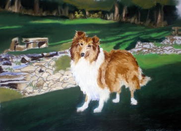 Portrait of Lassie, first proof.