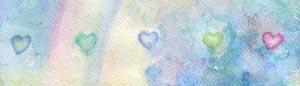 A Rainbow and Row of Hearts