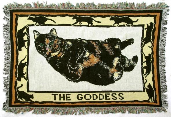The Goddess woven cotton blanket