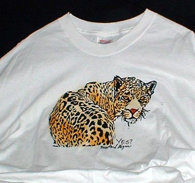 block-printed t-shirt of leopard