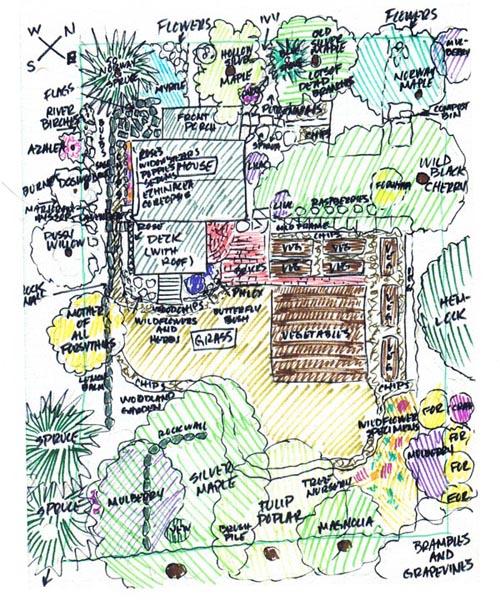 diagram aof backyard