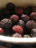 photo of black raspberries in dish