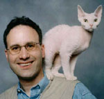 photo of steve dale and his cat Ricky
