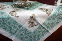 photo of poddle printed tablecloth