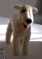 photo of pin-felted dog