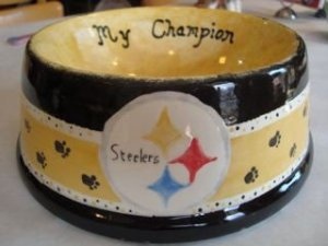 photo of steelers dog bowl