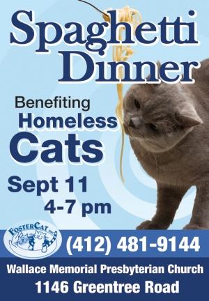 FosterCat spaghetti dinner flyer