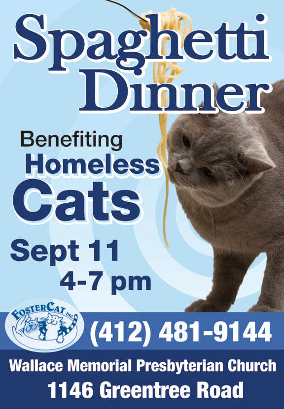 FosterCat spaghetti dinner flyer