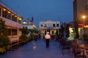 riverboats at night
