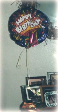 balloon and photographs