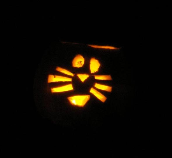 cat jack o lantern