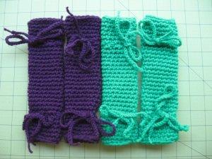crocheted kitty leggings