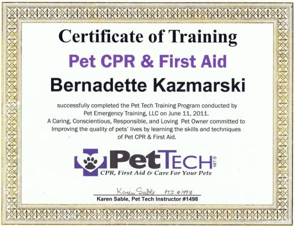 my pet certification