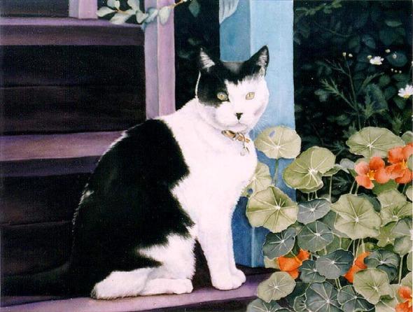 watercolor of cat