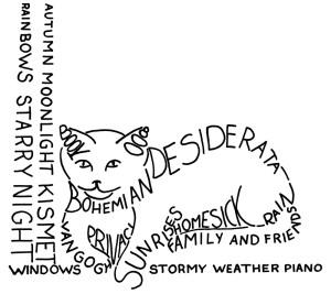 lettered cat shape