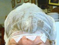 henna under plastic bag