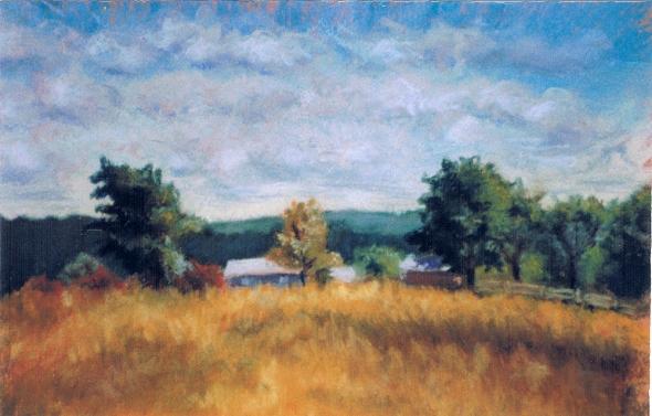 pastel painting of landscape