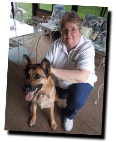 karen and dog