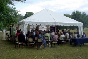 pet memorial sunday tent
