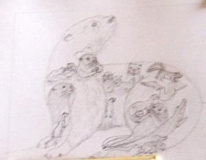 hidden animal sketch