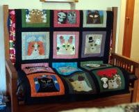 12-month cat quilt