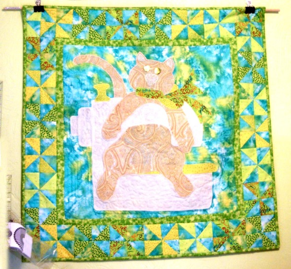 small quilt with cat