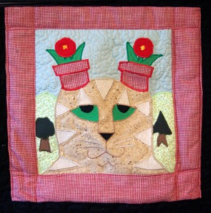 cat quilt patch