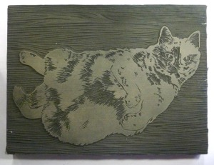 cut linoleum block