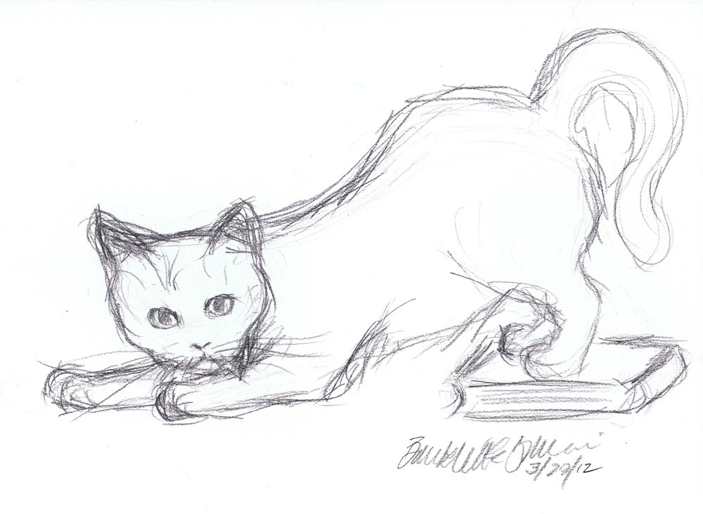 daily sketch mewsette is sneaky the creative cat
