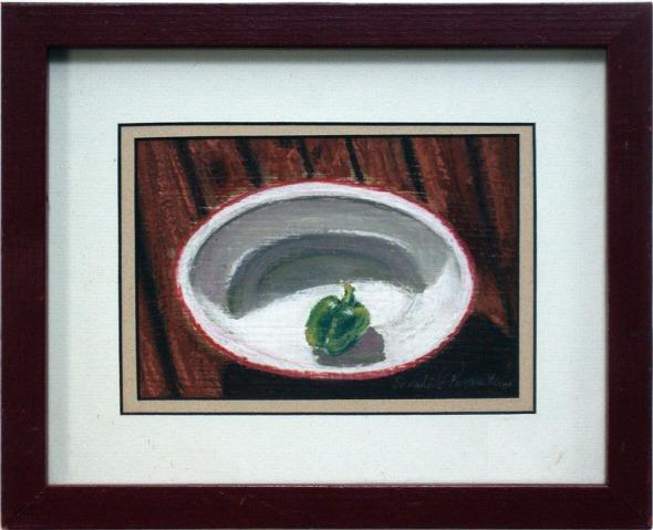 still life of pepper in bowl