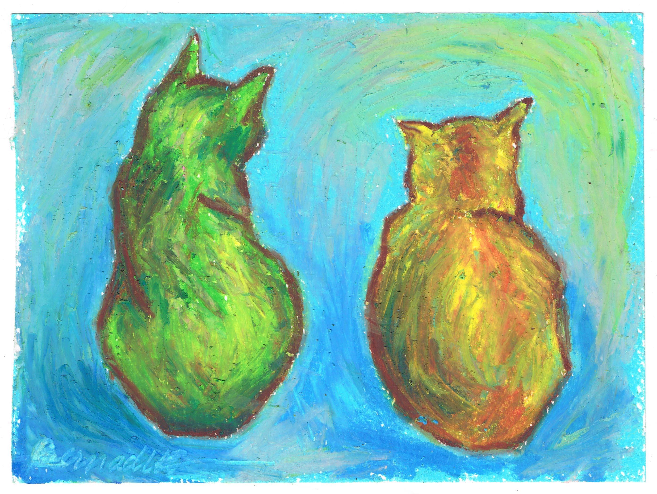 revised oil pastel sketch
