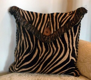 tiger stripe envelope pillow